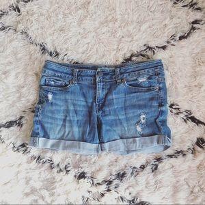 Aeropostale distressed denim shorts